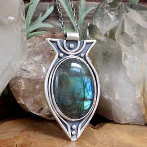 Voyager Necklace // Labradorite - Acid Queen Jewelry