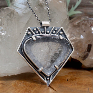 Voyager Necklace // Tourmalated Quartz - Acid Queen Jewelry