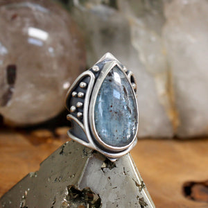 Warrior Ring // Kyanite - Size 6 - acid-queen-jewelry, All Products - acid-queen-jewelry, vendor-unknown - acid-queen-jewelry,  Acid Queen Jewelry - acid-queen-jewelry