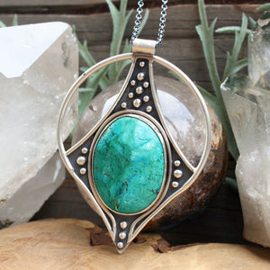 Conjurer Necklace // Chrysocolla - Acid Queen Jewelry