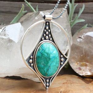 Conjurer Necklace // Chrysocolla - acid-queen-jewelry, All Products - acid-queen-jewelry, vendor-unknown - acid-queen-jewelry,  Acid Queen Jewelry - acid-queen-jewelry