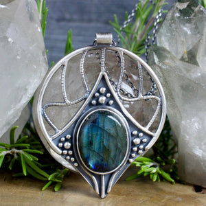 Conjurer Nouveau Necklace // Labradorite - acid-queen-jewelry, All Products - acid-queen-jewelry, vendor-unknown - acid-queen-jewelry,  Acid Queen Jewelry - acid-queen-jewelry