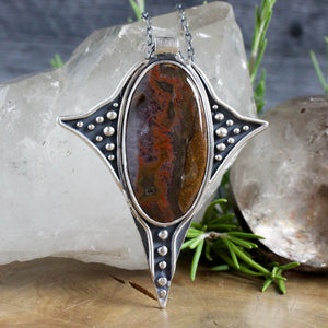 Voyager Necklace //  Red Moss Agate - Acid Queen Jewelry
