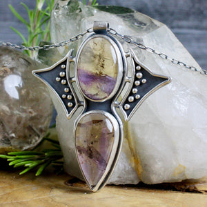 Prophetess Necklace // Double Ametrine - acid-queen-jewelry, All Products - acid-queen-jewelry, vendor-unknown - acid-queen-jewelry,  Acid Queen Jewelry - acid-queen-jewelry