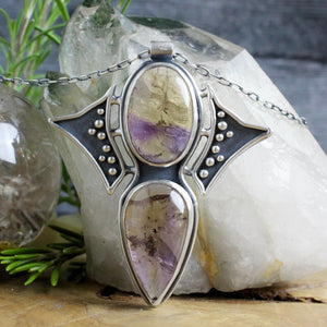 Prophetess Necklace // Double Ametrine - Acid Queen Jewelry