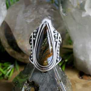 Warrior Ring // Pietersite- Size 8 - Acid Queen Jewelry
