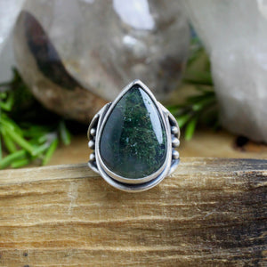 Warrior Ring // Moss Agate - Size 7 - acid-queen-jewelry, All Products - acid-queen-jewelry, vendor-unknown - acid-queen-jewelry,  Acid Queen Jewelry - acid-queen-jewelry