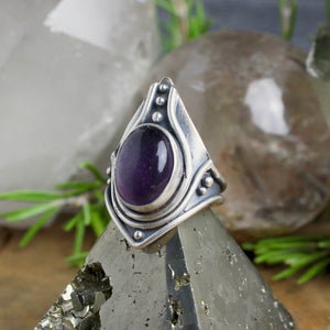 Warrior Ring // Rainbow Fluorite - SIZE 9.5 - Acid Queen Jewelry