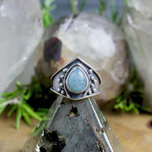 Vela Ring // Aquamarine - SIZE 6 - acid-queen-jewelry, All Products - acid-queen-jewelry, Acid Queen Jewelry - acid-queen-jewelry,  Acid Queen Jewelry - acid-queen-jewelry