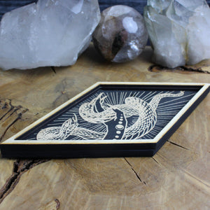 Diamond Snake Trinket Tray - Acid Queen Jewelry