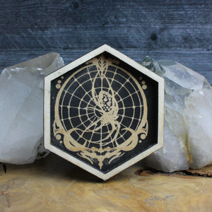 Hexagon Spider Trinket Tray - Acid Queen Jewelry