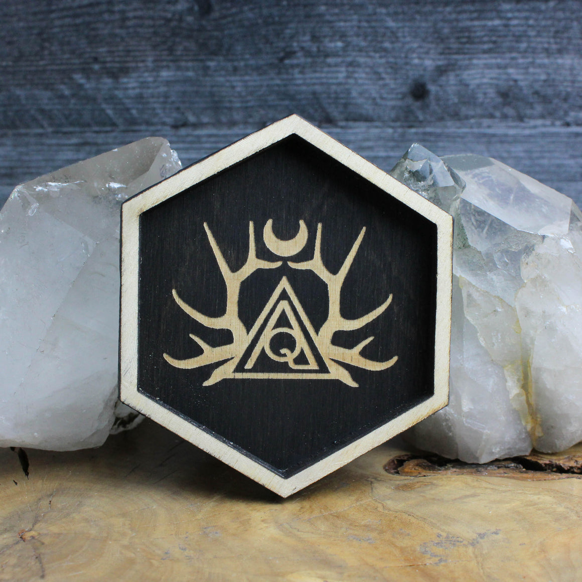 Hexagon Logo Trinket Tray - Acid Queen Jewelry