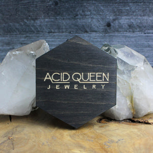 Hexagon Logo Trinket Tray - acid-queen-jewelry, [product_type] - acid-queen-jewelry, Acid Queen Jewelry - acid-queen-jewelry,  Acid Queen Jewelry - acid-queen-jewelry