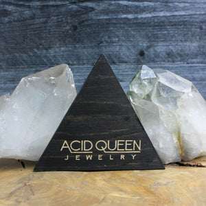 Triangle Logo Trinket Tray - acid-queen-jewelry, [product_type] - acid-queen-jewelry, Acid Queen Jewelry - acid-queen-jewelry,  Acid Queen Jewelry - acid-queen-jewelry