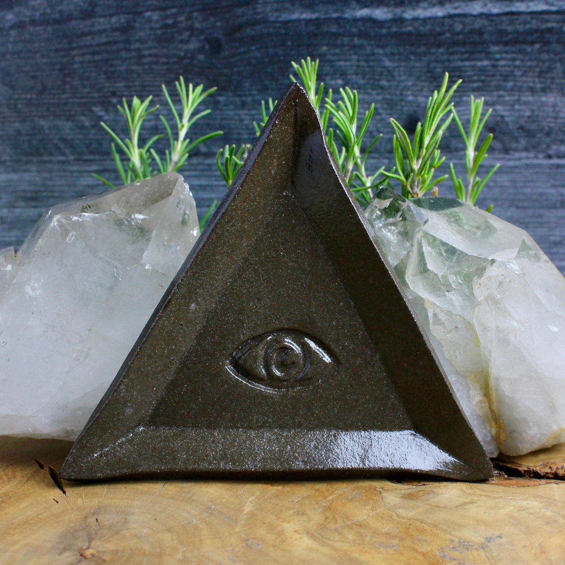 Triangle Evil Eye Dish // Earth Finish - acid-queen-jewelry, [product_type] - acid-queen-jewelry, Acid Queen Jewelry - acid-queen-jewelry,  Acid Queen Jewelry - acid-queen-jewelry