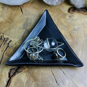 Triangle Evil Eye Dish // Black - acid-queen-jewelry, [product_type] - acid-queen-jewelry, Acid Queen Jewelry - acid-queen-jewelry,  Acid Queen Jewelry - acid-queen-jewelry