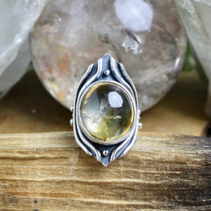 Warrior Ring // Citrine - Size 6 - Acid Queen Jewelry