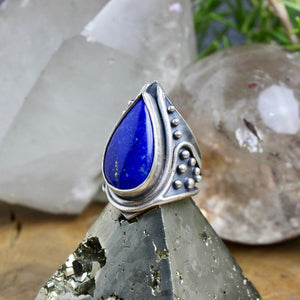 Warrior Ring // Lapiz Lazuli - Size 8 - acid-queen-jewelry, All Products - acid-queen-jewelry, vendor-unknown - acid-queen-jewelry,  Acid Queen Jewelry - acid-queen-jewelry