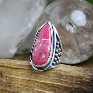 Warrior Ring // Thulite - Size 6 - acid-queen-jewelry, All Products - acid-queen-jewelry, vendor-unknown - acid-queen-jewelry,  Acid Queen Jewelry - acid-queen-jewelry