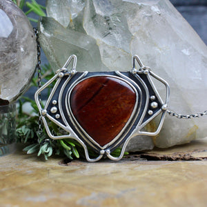 Serpentine Voyager Necklace // Red Tigers Eye - Acid Queen Jewelry