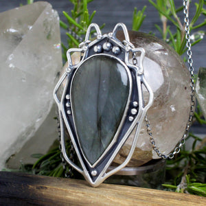 Serpentine Voyager Necklace // Labradorite - acid-queen-jewelry, All Products - acid-queen-jewelry, vendor-unknown - acid-queen-jewelry,  Acid Queen Jewelry - acid-queen-jewelry