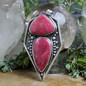 Voyager Necklace // Double Thulite - Acid Queen Jewelry