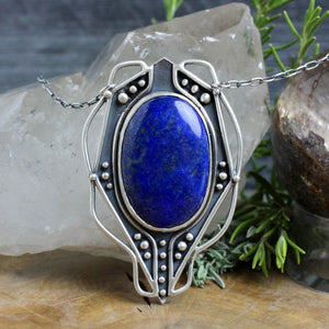 Voyager Necklace // Lapiz Lazuli - acid-queen-jewelry, All Products - acid-queen-jewelry, vendor-unknown - acid-queen-jewelry,  Acid Queen Jewelry - acid-queen-jewelry