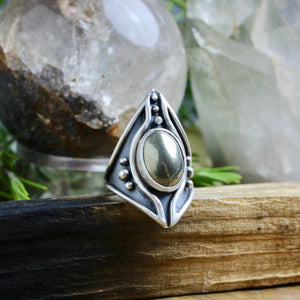 Warrior Ring // Pyrite - Size 6.5 - acid-queen-jewelry, All Products - acid-queen-jewelry, vendor-unknown - acid-queen-jewelry,  Acid Queen Jewelry - acid-queen-jewelry