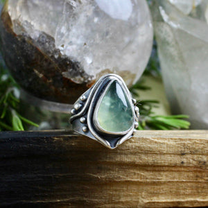 Warrior Ring // Prehnite - Size 8 - Acid Queen Jewelry