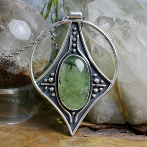 Conjurer Necklace // Prehnite - Acid Queen Jewelry