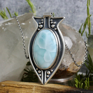 Voyager Necklace // Larimar - acid-queen-jewelry, All Products - acid-queen-jewelry, vendor-unknown - acid-queen-jewelry,  Acid Queen Jewelry - acid-queen-jewelry