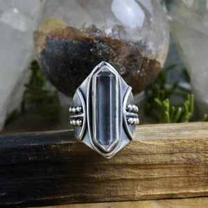 Warrior Ring // Double Terminated Quartz  - Size 10 - Acid Queen Jewelry