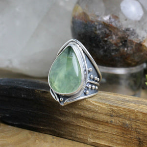 Warrior Ring // Aquamarine - Size 9 - acid-queen-jewelry, All Products - acid-queen-jewelry, vendor-unknown - acid-queen-jewelry,  Acid Queen Jewelry - acid-queen-jewelry