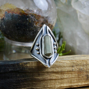 Warrior Ring // Double Terminated Pyrite - Size 7 - Acid Queen Jewelry