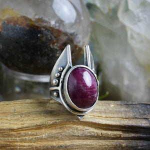 Warmaster Ring // Ruby - Size 9.5 - acid-queen-jewelry, [product_type] - acid-queen-jewelry, Acid Queen Jewelry - acid-queen-jewelry,  Acid Queen Jewelry - acid-queen-jewelry