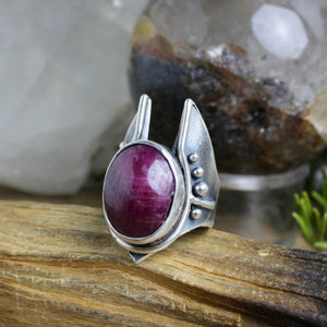 Warmaster Ring // Ruby - Size 9.5 - Acid Queen Jewelry
