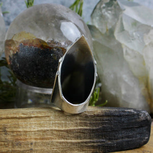 Amplifier Ring // Hematite - Size 8 - Acid Queen Jewelry