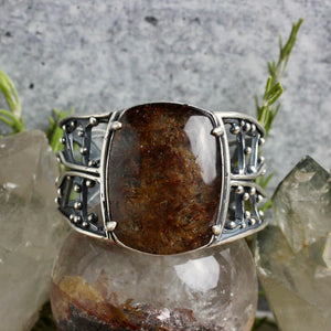 Warrior Laced Cuff // Rutilated Quartz - Medium - Acid Queen Jewelry