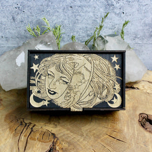Celestial Witch Tarot Card Box - Acid Queen Jewelry
