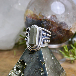 Warrior Ring // Pyrite DT - Size 6 - Acid Queen Jewelry