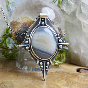 Voyager Necklace // Blue Lace Agate - acid-queen-jewelry, All Products - acid-queen-jewelry, vendor-unknown - acid-queen-jewelry,  Acid Queen Jewelry - acid-queen-jewelry