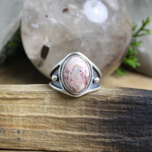 Warrior Ring // Mexican Fire Opal - Size 8 - acid-queen-jewelry, All Products - acid-queen-jewelry, vendor-unknown - acid-queen-jewelry,  Acid Queen Jewelry - acid-queen-jewelry