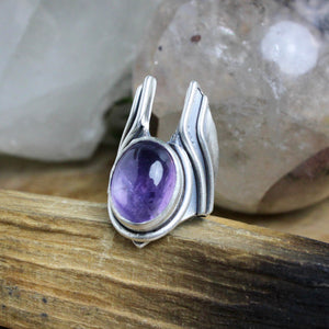 Warmaster Ring // Amethyst - Size 6 - acid-queen-jewelry, [product_type] - acid-queen-jewelry, Acid Queen Jewelry - acid-queen-jewelry,  Acid Queen Jewelry - acid-queen-jewelry