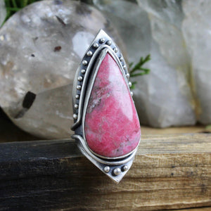 Warrior Shield Ring // Thulite - Size 9 - Acid Queen Jewelry