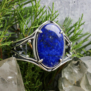 Warrior Laced Cuff // Lapis Lazuli - acid-queen-jewelry, [product_type] - acid-queen-jewelry, Acid Queen Jewelry - acid-queen-jewelry,  Acid Queen Jewelry - acid-queen-jewelry
