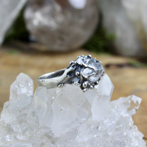 Captured Quartz Ring - SIZE 9 - acid-queen-jewelry, All Products - acid-queen-jewelry, vendor-unknown - acid-queen-jewelry,  Acid Queen Jewelry - acid-queen-jewelry