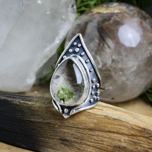 Warrior Ring // Lodolite - Size 8 - acid-queen-jewelry, All Products - acid-queen-jewelry, Acid Queen Jewelry - acid-queen-jewelry,  Acid Queen Jewelry - acid-queen-jewelry