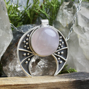 Voyager Necklace  //  Rose Quartz - acid-queen-jewelry, All Products - acid-queen-jewelry, vendor-unknown - acid-queen-jewelry,  Acid Queen Jewelry - acid-queen-jewelry