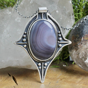 Voyager Necklace // Lace Agate - Acid Queen Jewelry
