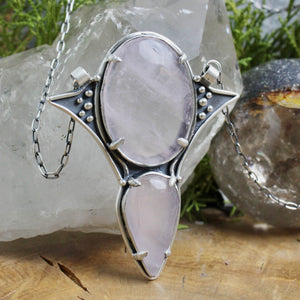 Voyager Necklace  //  Double Rose Quartz - acid-queen-jewelry, All Products - acid-queen-jewelry, vendor-unknown - acid-queen-jewelry,  Acid Queen Jewelry - acid-queen-jewelry